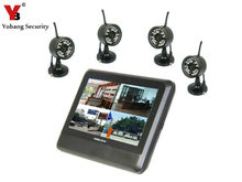 Best price YobangSecurity Wireless 4CH CCTV DVR Day Night Security Camera Surveillance System 4 digital Cameras with 7″ TFT LCD DVR
