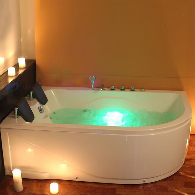 Whirlpool Corner Bath Shower Spa Straight 2 Person