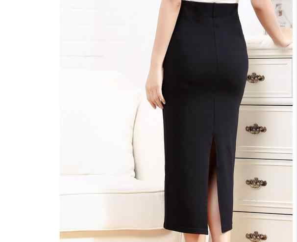 9bd066874f ... Customize woman Long Pencil Skirt Back Slit Ladies Maxi White/Khaki/Red/ Blue