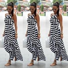 2016 Moda hanım Geometrik Maxi Long Casual Yaz Plaj Partisi Şifon Elbise
