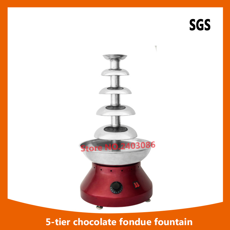 high quality Electric Mini Household Easy Operation Rotating Frame Chocolate Fondue Fountain machine for party hotel catering