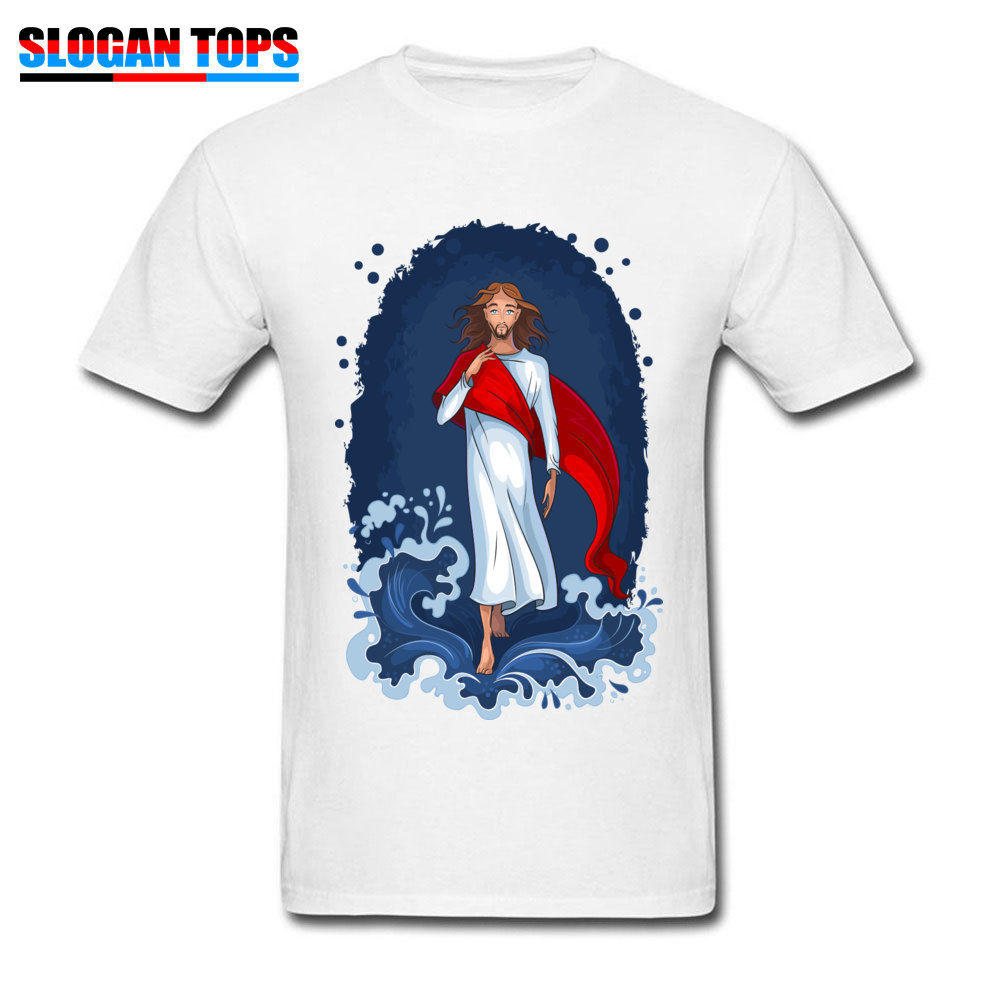 Man T Shirts Jesus Coming T-shirt For Men Christian Father Day Gift Clothing 100% Cotton White Tops & Tees Custom Tshirts