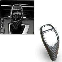 1pc Carbon Fiber Gear Shift Knob Cover For BMW F20 F30 F25 F26 F15 1 2 3 4 Series high quality black Gear Shift Knob Cover trims