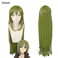 Fate Apocrypha Cosplay Wig Rikudo Reika Green Long Straight FGO Assassin Synthetic Hair for Adult
