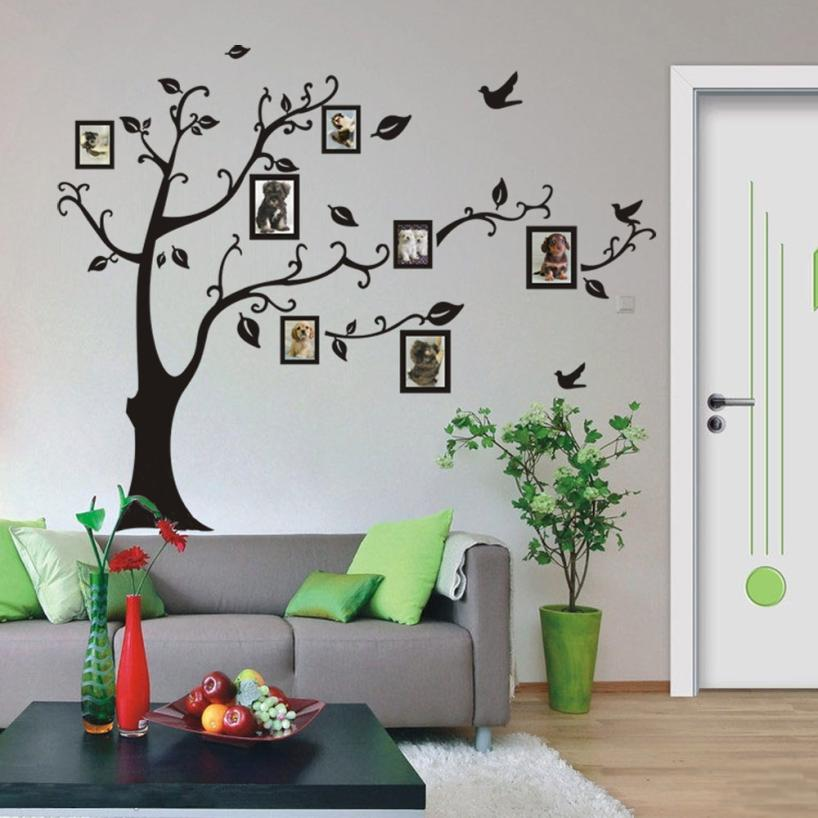 Family Tree Wall Art Picture Frame.Us 2 32 36 Off Diy Family Photo Frame 3d Wall Sticker Art Photo Frame Memory Tree Wall Stickers Home Decor Family Tree Wall Decal D30m25 In Wall