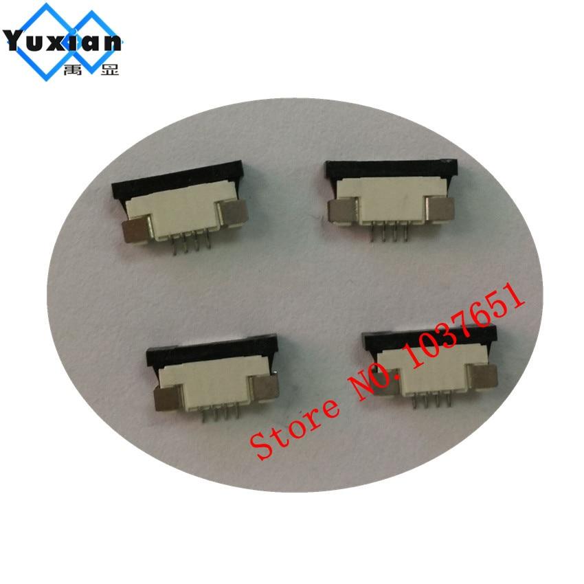Unterhaltungselektronik 4pin Unter Clamshell Buchse Fpc Ffc Flach Kabel Stecker Für Touch Pannel 1 Stücke Elegante Form 1,0 Bildschirme