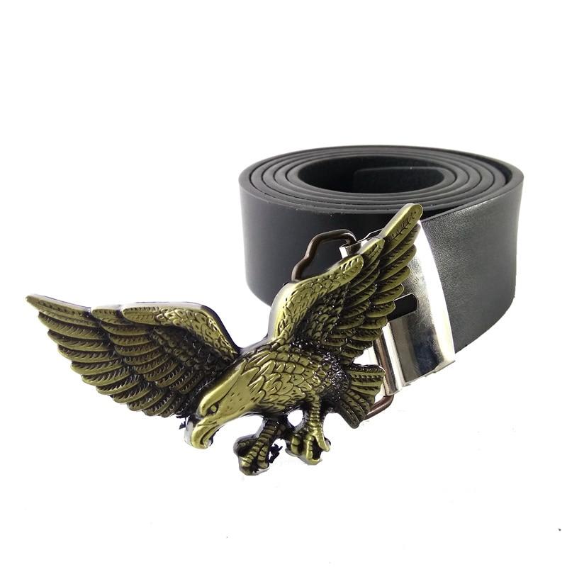 Haute qualité western cowboy ceintures pour hommes avec USA Américain 3D Aigle  ceinture boucle Noir PU ceinture en cuir hommes cinturones hombre dans ... 248775c8c2f