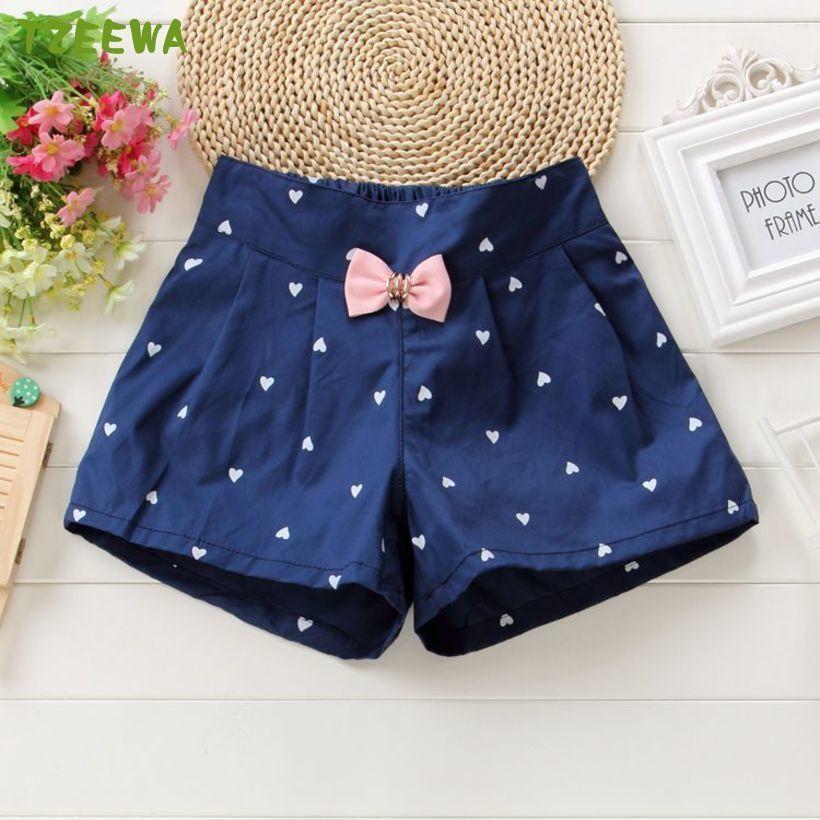 2019 Kids Summer Shorts Bow Princess Shorts For Girls Fashion Girls Shorts Children Pants Girl Short Flower Girls Clothing