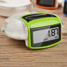 New Green Camtoa Solar Energy Running Pedometer Odometer Calorie Meter Sport Step Counter Fitness Caculator For Body Building