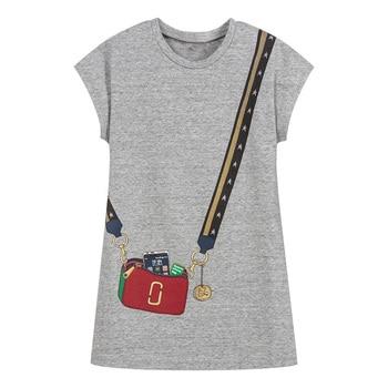 d4c53f84a Vestido de los niños para Niñas Ropa 100% algodón, 2019 de algodón de verano  de marca de fiesta de princesa de niño vestido de Vestidos de ropa de los  niños ...