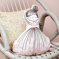 INS New singing girl wishing bottle baby calm music pillow lovely swan waist cushion for leaning on kids toy