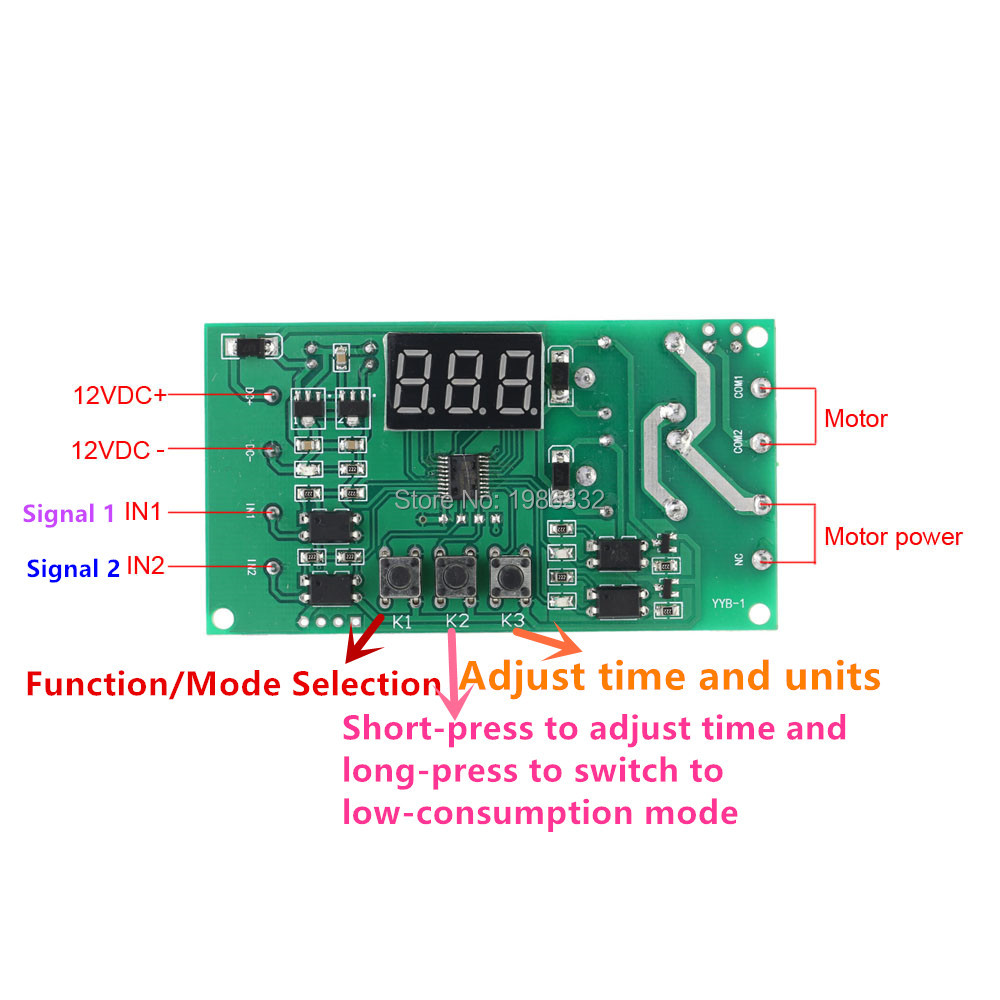 WS16 Dual Programmable Relay Control 12V DC Motor Reversible Module ...