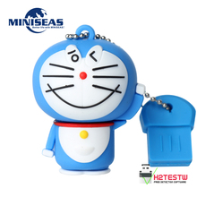 Miniseas Usb Flash Drive With Doraemon 8G/16G/32G/64G Real Capacity Memory Usb Stick Pen Drive Pendrive For PC