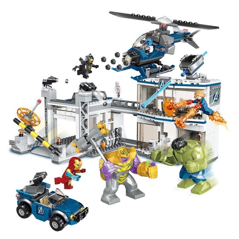 735 pièces LegoINGlys Marvel Infinity war Sanctum Showdown bloc de construction Avengers 4 Compatible LegoINGlys Endgame Super héros jouet