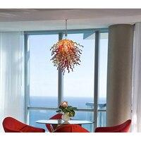 Longree New Design Luxury LED Light Chandelier Light Foyer Villa Decor Chain Chihuly Chandeliers LED Artistic