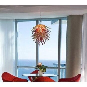Longree nuevo diseño de lujo lámpara de araña LED luz Foyer Villa decoración cadena candelabros LED lámparas artísticas