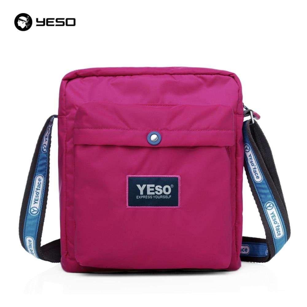 YESO Famous Brand Style 2016 New Women Casual Waterproof Nylon Messenger Bag Leisure Shoulder Bag Cross Body Bags 2016 brand 40l waterproof nylon women