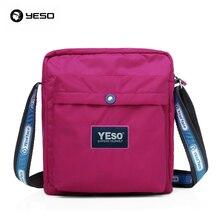 YESO Berühmte Marke Stil 2016 Neue Frauen Casual Wasserdicht Nylon Umhängetasche Freizeit Umhängetasche Cross Body Taschen