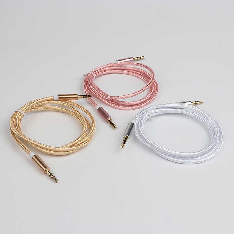 Amkle 3,5 мм Jack аудио кабель 3,5 мм между мужчинами AUX кабель для iPhone 6 6 S автомобиля MP3 MP4 наушников Дополнительный вход громкоговорителя кабель