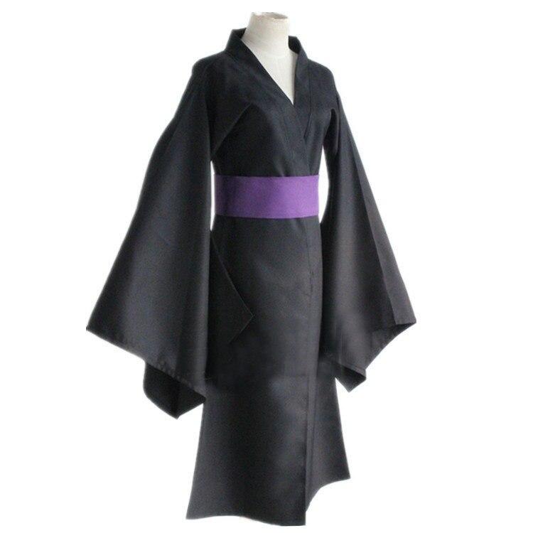 Noragami Yato Black Kimono Yukata Universal Summer Matsuri Mens Cosplay Costume