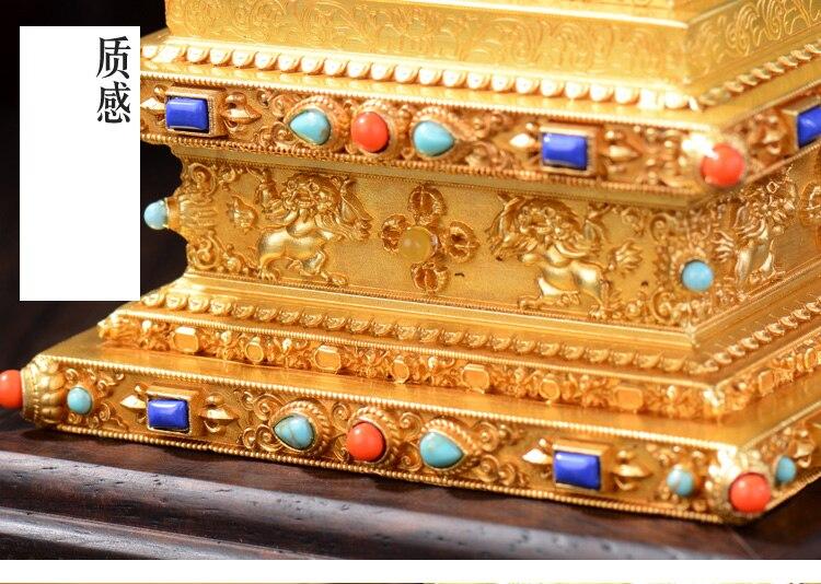 도매 불교 기사 홈 효능 탄트라 부적 티베트 불교 금테 dagoba stupa 타워 bodhi 파고다 동상-에서동상 & 조각품부터 홈 & 가든 의  그룹 3