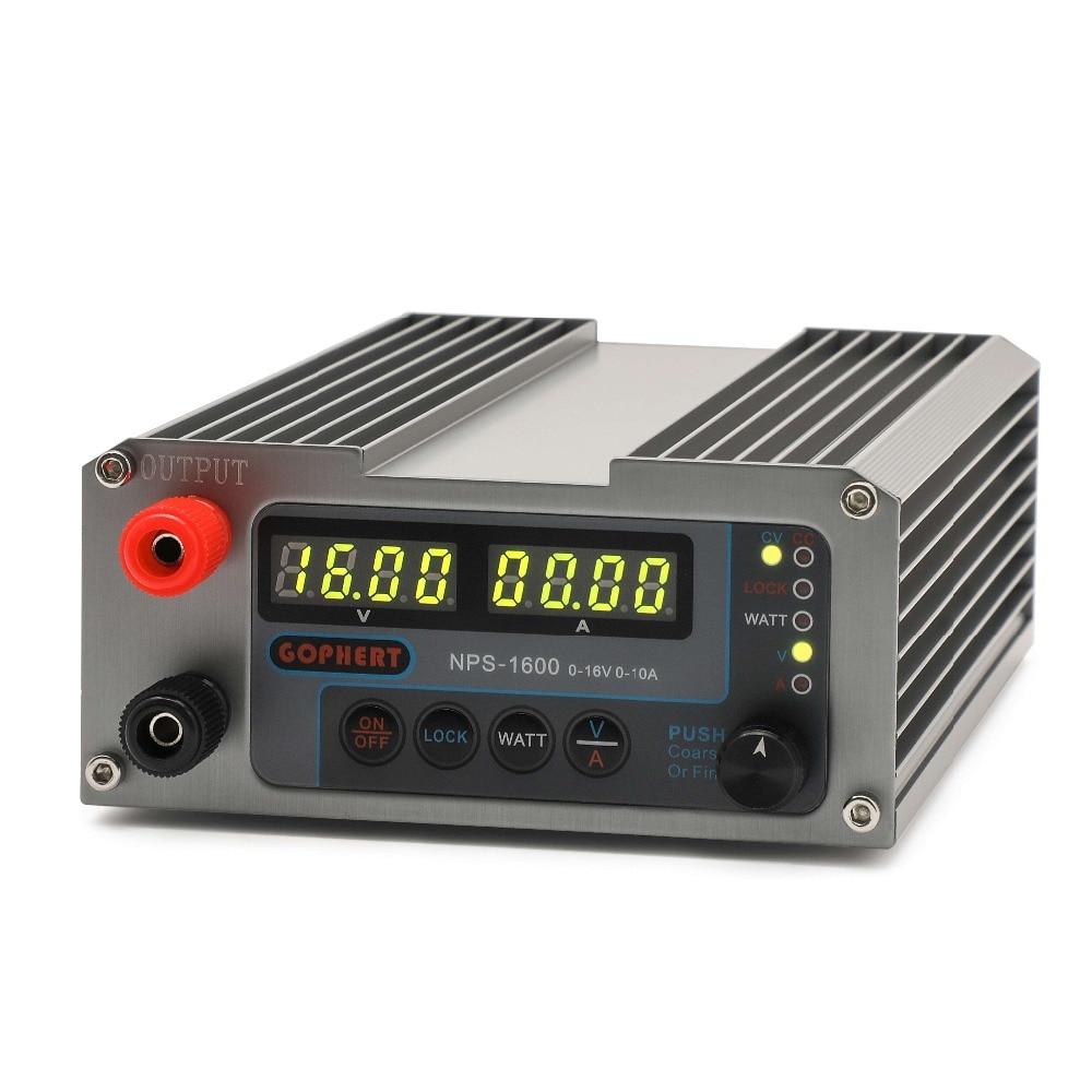 NPS-1600 0-16V0-10A einstellbare DC geregelte netzteil Konstante spannung strom quelle kleine volumen gophert