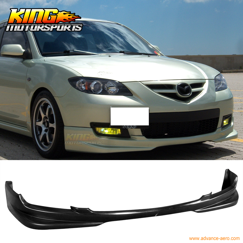 Fit For 07 08 09 Mazda 3 4DR Sedan PU Front Bumper Lip Spoiler Bodykit Black fit 05 06 07 08 09 10 11 12 13 chevy corvette c6 base front bumper lip splitter spoiler pu