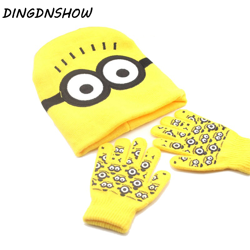 Dingdnshow2018 Skullies Beanies Hat Winter Cap Kids Warm Cartoon