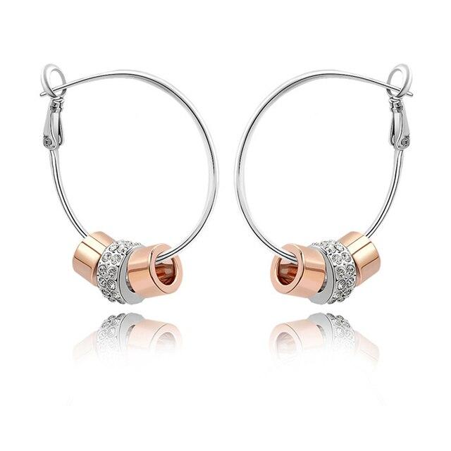 Large Hoop Earrings Austrian Crystal Party Earrings Lady Bar Rock Jewelry Birthday Gifts For Girlfriends Lady Vintage Jewellery