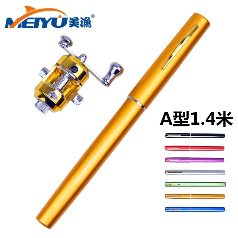EMMROD MINI Pen Fishing Rod Pocket Pen Type Rod Fishing Rod 1 4 Meters Free Shipping in Fishing Rods from Sports Entertainment