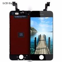 10 unids/lote lcd para iphone 5s 5g 5c con pantalla táctil digitalizador asamblea reemplazo de la pantalla libera la nave vía dhl