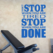 Vinyl Wall Decal For Gym Decor Dont Stop Quote Sticker Motivational Inspiration Poster Fitness AZ064