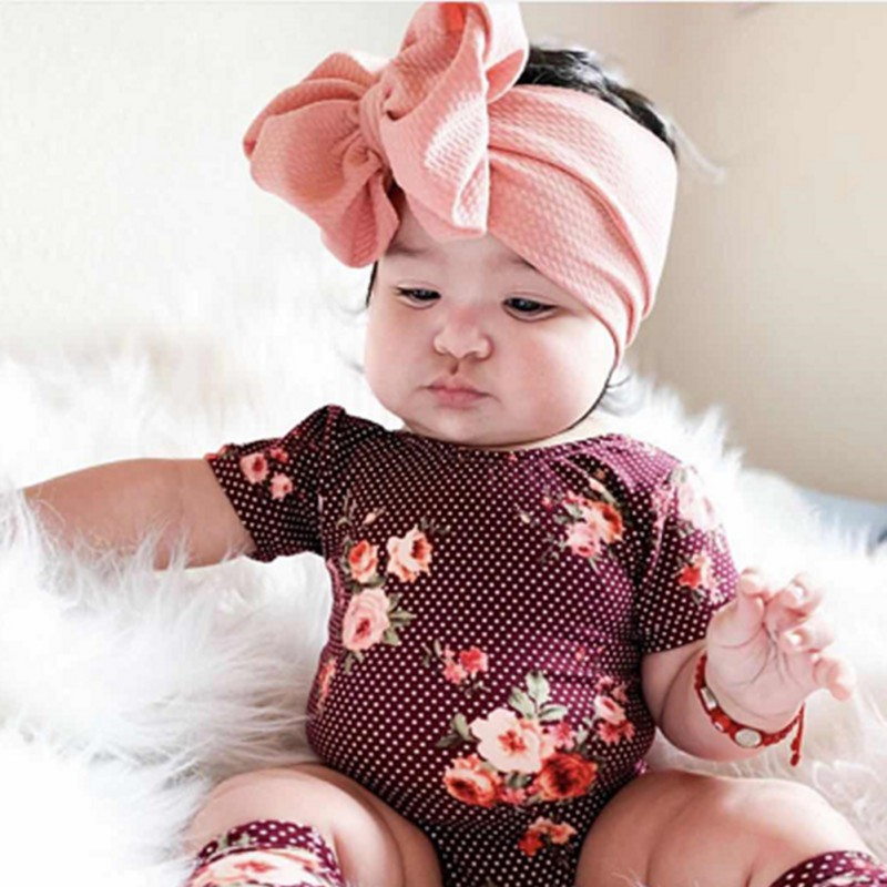 Big Bowknot Baby Headbands Knotted Infant Headwraps Girls Turban Baby Bows