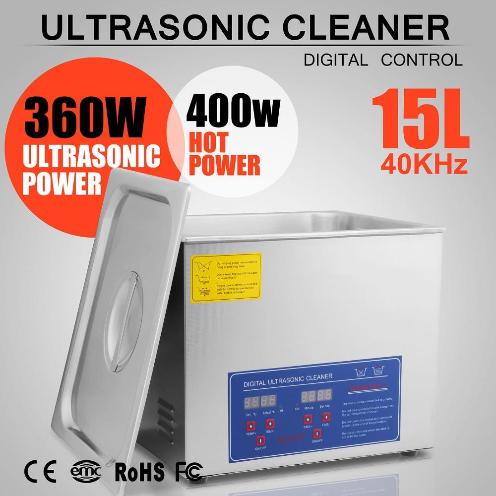 Digital Heater Timer Digital Powerful Stainless Steel 15 L Liters Ultrasonic Cleaner