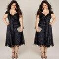 Большой размер 6XL женщины lace dress 2016 Лето жир ММ сексуальная рукавов длинные платья плюс размер женская одежда 6xl dress