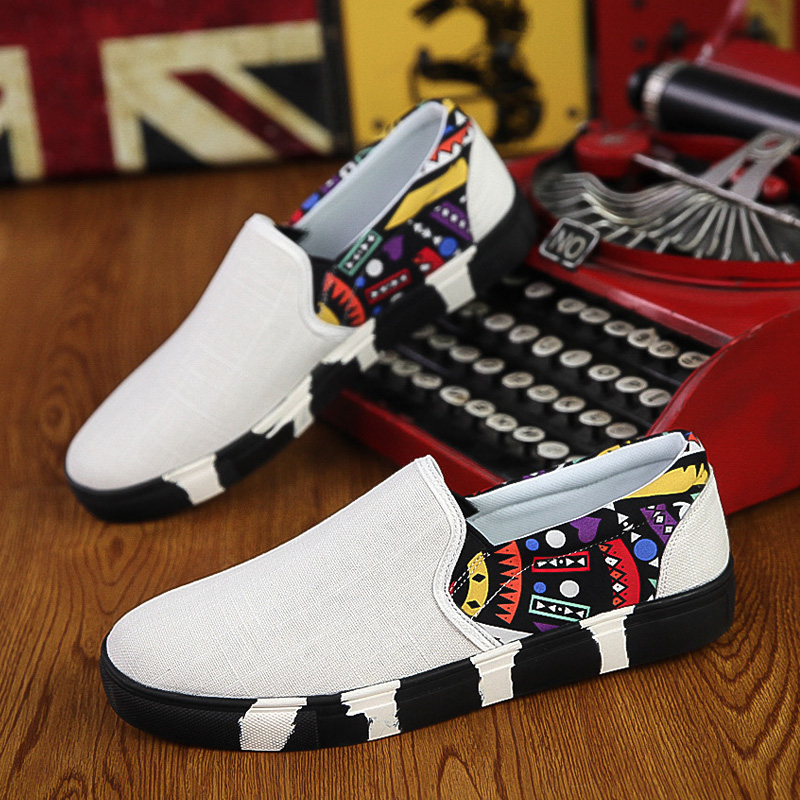 shoes men Casual Shoes men canvas shoes for men shoes men summer slip - Men's Shoes - Photo 4