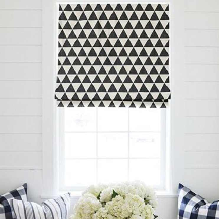 3D Art Modern Roman Blinds Shades Curtain(flat top,Chain control) Customize Size