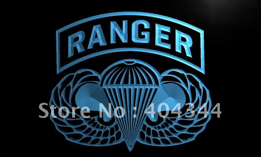 Li143 Us Army Ranger Parawings Led Neon Light Sign Home Decor Shop