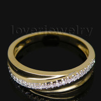 Vintage 0 14Ct Diamond Solid 14k Yellow Gold Engagement Wedding Band Setting Ring Jewelry Sets SR0040