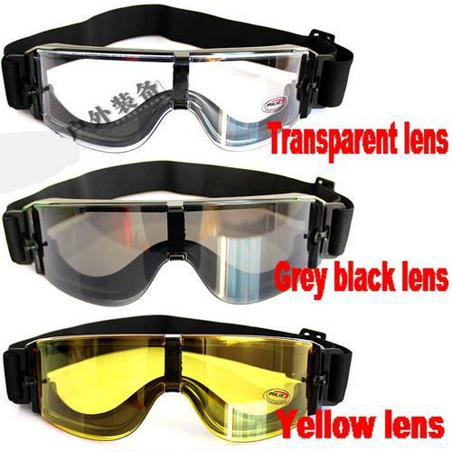 2015 New Hot Sale Airsoft X800 Tactical Goggles Sunglasses Glasses Black 3 Lens