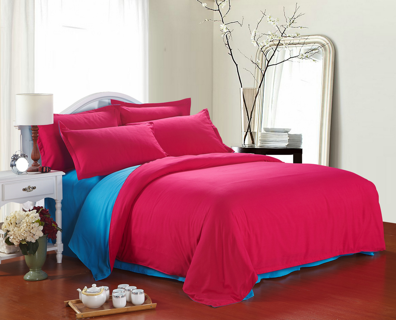 Bed sheet set with quilt - Aliexpress Com Buy Bed Linen Solid Color Double Simple Plain Cotton Set Quilt Cover Three Dormitories Single Sheets Set From Reliable Sheet Sets Full Size