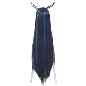 Image 4 - L email wig Danganronpa Mioda Ibuki Cosplay Wigs Long Mixed Color Straight Cosplay Wig Halloween Heat Resistant Synthetic Hair