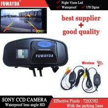 Fuwayda Беспроводной заднего вида автомобиля с направляющей линии Sony с Руководство линии камеры для Honda CRV CR-V Odyssey fit Jazz Элизиона