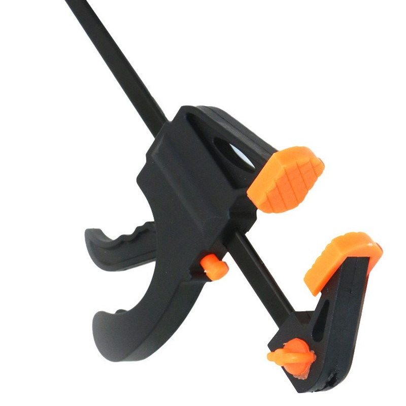 4 Inch Total Length 195mm Ratchet Release Speed Squeeze Wood Bar F Clamp Spreader Woodworking F Folder Clamp Hand Tool P0.05