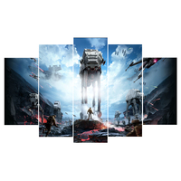 5 Pieces Canvas Painting Star War Movie Poster Modern Home Decor For Living Room Wall Art