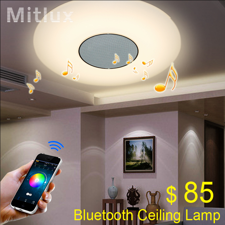 Free Shipping Mitlux Led Ceiling Lamp Bluetooth Lights