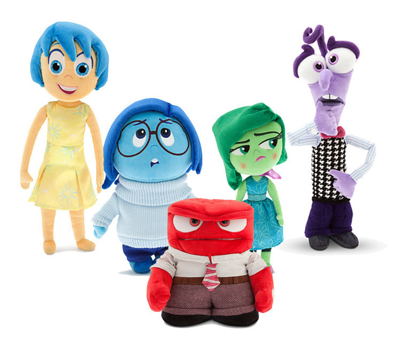 2015 Hot New Pixar Movie Inside Out Plush Toys Stuffed <font><b>Doll</b></font> Anger <font><b>Joy</b></font> Fear Disgust And Sadness Christmas Gifts