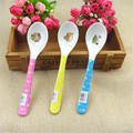 New Single loaded Babies Feeding Spoon Splastic Cartoon Cute Melamine Children Spoon Solid Feeding Utensils Color Shipped