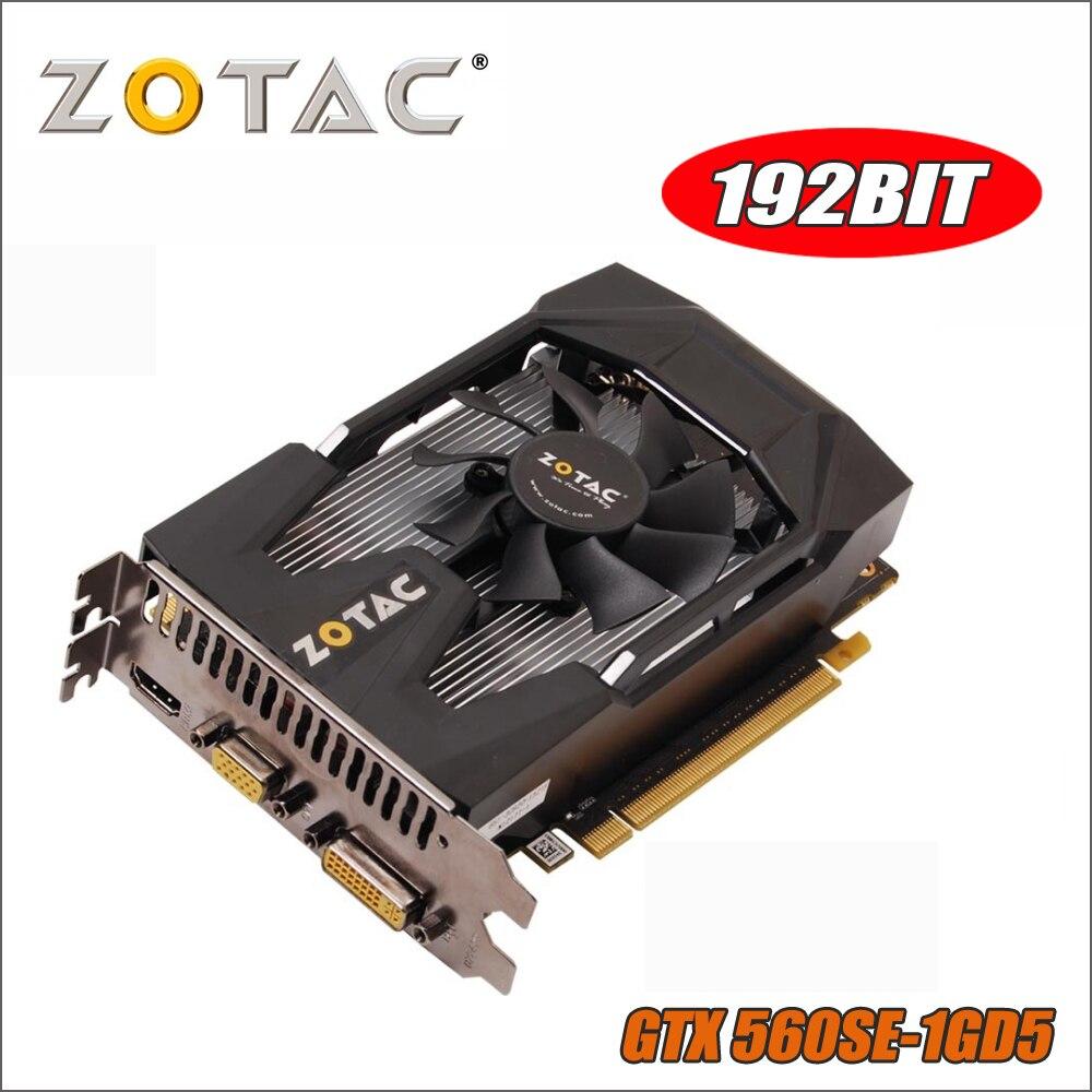 Original ZOTAC Video Card GeForce GTX 560SE 1GB GDDR5 GTX560 Graphics Cards for nVIDIA GTX 560 SE 1GD5 Thunder edition Hdmi VGA zotac video card original gtx750 1gb 128bit gddr5 graphics cards gpu map for nvidia geforce gtx 750 thunder edition 1gd5 pci e
