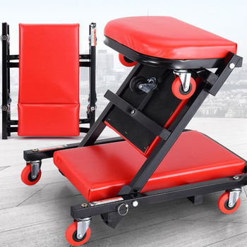 Maintenance Repair Stool Leather Structure Mechanical Trolley Z Creeper Seat